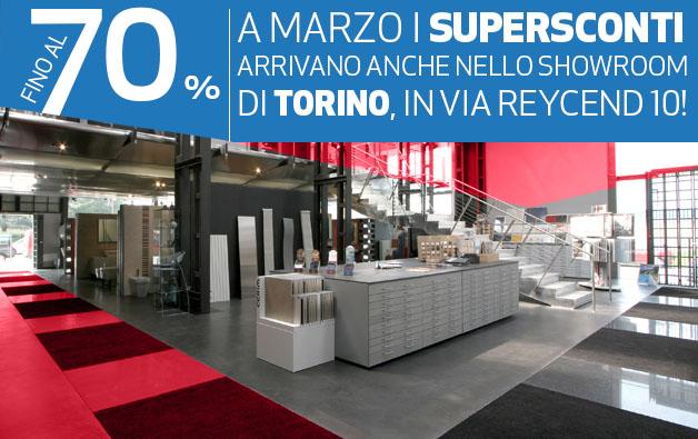 Sono arrivati i Supersconti nello showroom di Torino!
